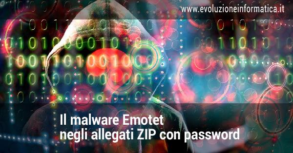 emotet zip con password